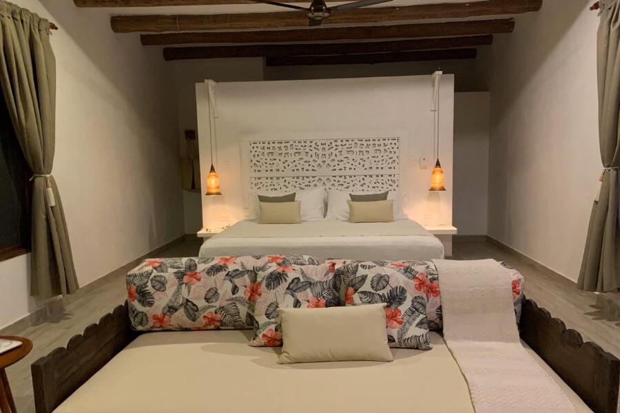 Bedroom at Hotel Campanario De La Villa